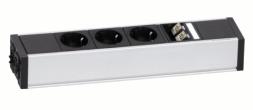 Steckdosenleiste individuell konfigurierbar, Steckdosenleiste USB Daten, Steckdosenleiste einbaubar, Schreibtisch Steckdosenleiste