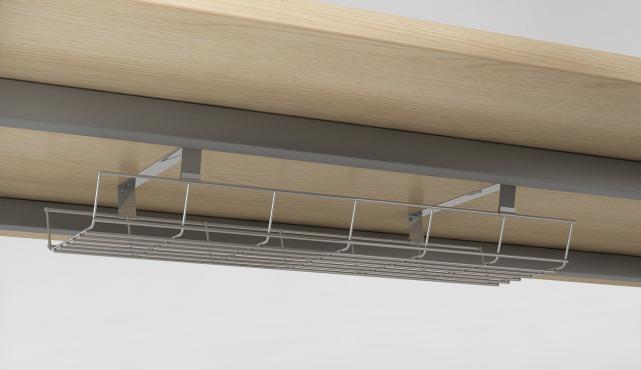 Gitterkabelkanal, Kabelsalat aufräumen, Kabelordnung Schreibtisch, Gitterkabelwanne Hersteller, GKA Gitterkabelkanal abklappbar, m3 Gitterkabelkorb