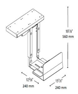 PChalter dreifach verstellbar, tiefenverstellbar, drehbar