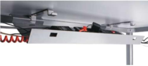 Abklappbare Kabelwanne, Kabelkanal, Schreibtischkanal, Schreibtischkabelwanne