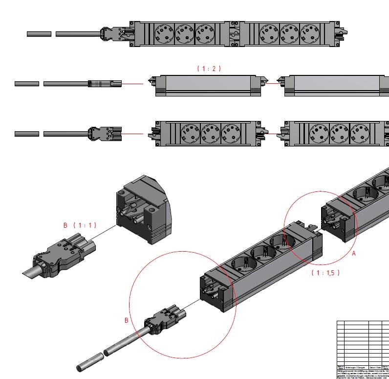 Steckdosenleisten für Büro, Steckerleisten GST, Steckerleisten direkt zu verbinden, Büro Steckdosenleisten