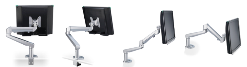 Bildschirmhalter, Monitorhalterung, Bildschirmschwenkarm, Monitorschwenkarm, PC-Halter, Schwenkbarer Bildschirmhalter, VESA, Monitorhalterung für Schreibtisch