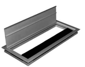 Kabelauslass, Kabelklappe, Aluminium Kabeldurchlass, Kabelauslass mit Bürstendichtung, Alu Kabelauslass