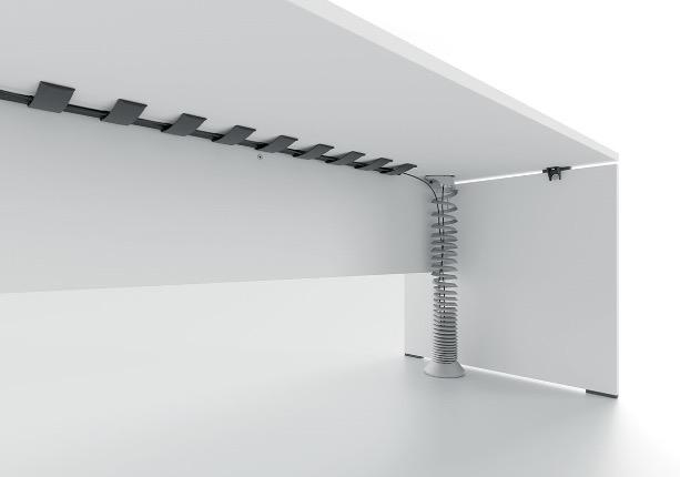 Kabelspirale für hohe Tische, Kabelschlange höhenverstellbare Schreibtisch, Kabelspirale für elektrisch verstellbare Tische, Stehsitz-Tische Kabelführung, Kabelschlange für hohe Schreibtische