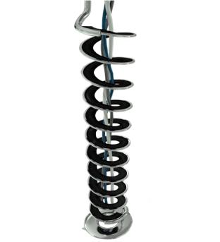 Chrom Kabelspirale, Kabelschlange für verchromte Design-Schreibtische, edle Kabelspirale Büromöbel