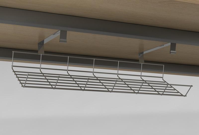 m3 Gitterkabelkanal, Schreibtisch Kabelmanagement nachträglich, Gitterrinne Schreibtisch, Gitterkorb, Kabelwanne Schreibtisch