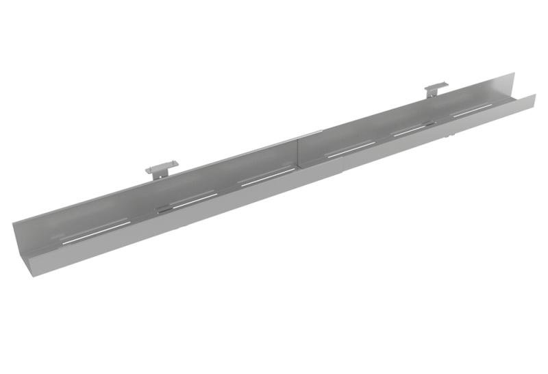 Stahlkabelwanne lang, Ausziehbare Kabelwanne, Verstellbare Kabelwanne, kabelrinne Schreibtisch, Gabelbachs