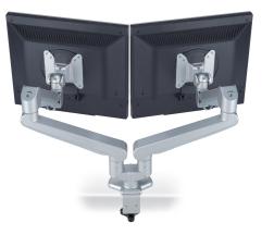 Doppelter Monitorarm, Doppelschwenkarm, Zweifach Monitorhaber, Doppelter Bildschirmschwenkarm, zweifacher Monitorarm, Monitorhaber für zwei Bildschirme