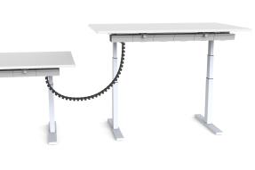 Kabelkette Schreibtisch zu Schreibtisch, höhenverstellbarer Schreibtisch Kabelverbindung, Verkabelung hohe Schreibtische, Schreibtisch Kabelspirale Magnetbefestigung,