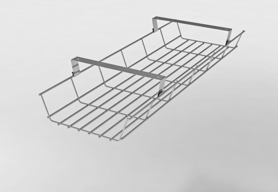 Kabelwannen und Kabelführungen für Schreibtische - Gitterkabelkanal